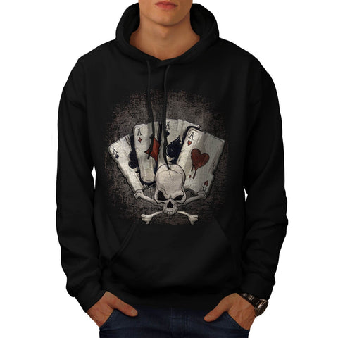 Ace Playing Cards Mens Hoodie