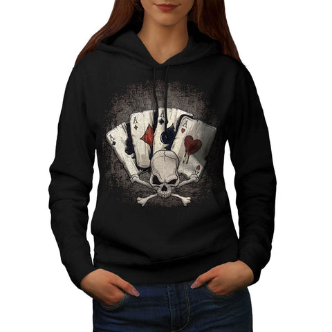 Ace Playing Cards Womens Hoodie