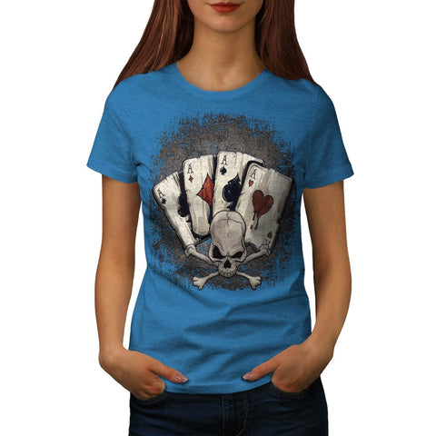 Ace Playing Cards Womens T-Shirt
