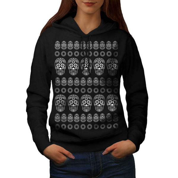 Skull Art Horror Head Womens Hoodie