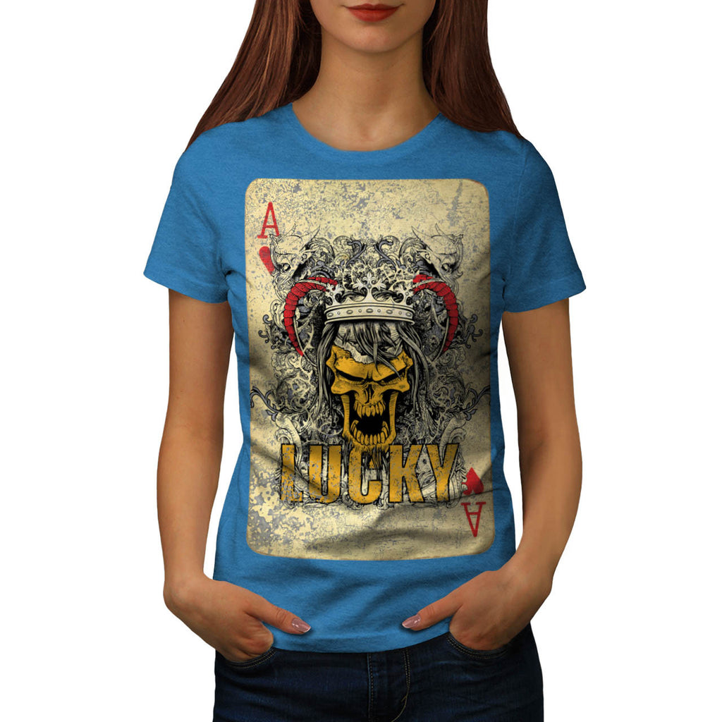 Skull Beast Cards Art Womens T-Shirt