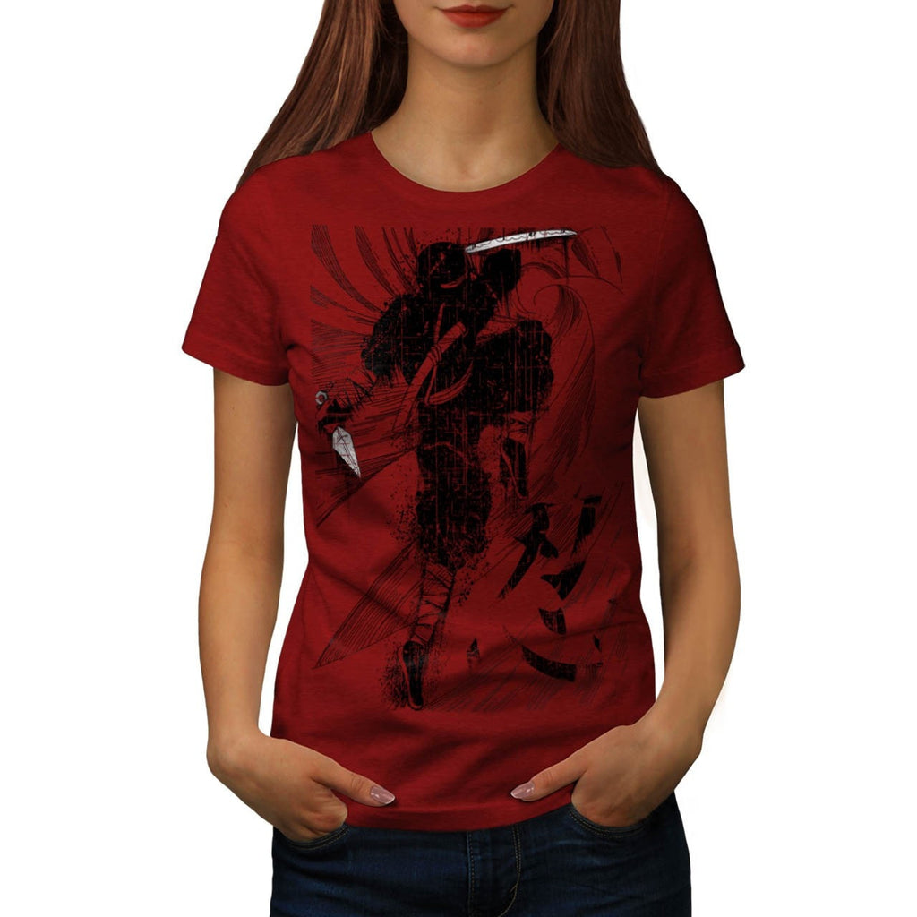 Asian Ninja Warrior Womens T-Shirt