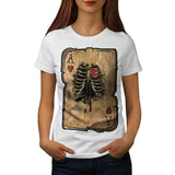 Skeleton Ace Hearts Womens T-Shirt