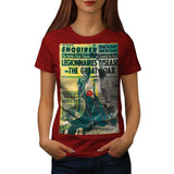 Newspaper Portrait Womens T-Shirt