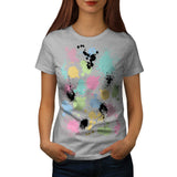 Paint Fun Splat Effect Womens T-Shirt