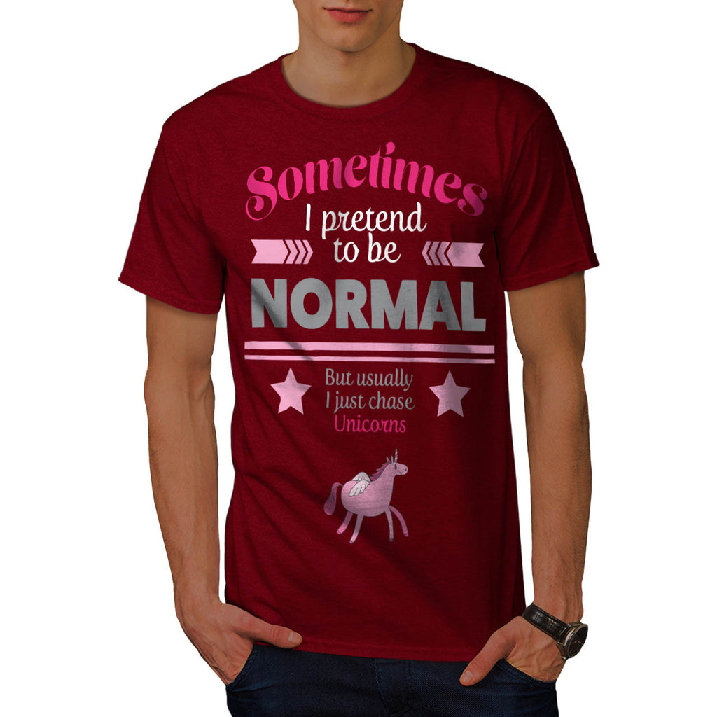 Normal Chase Unicorns Mens T-Shirt
