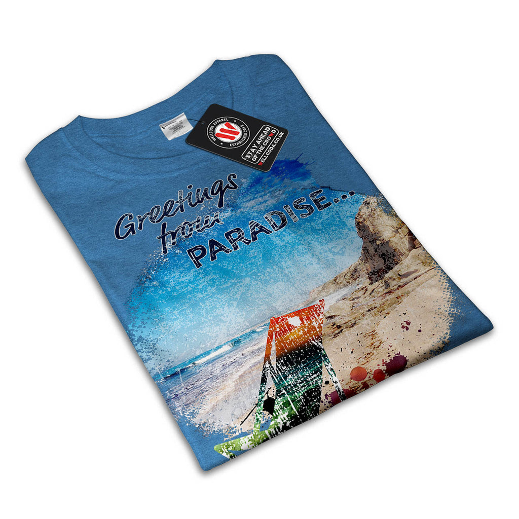 Greetings Paradise Womens T-Shirt