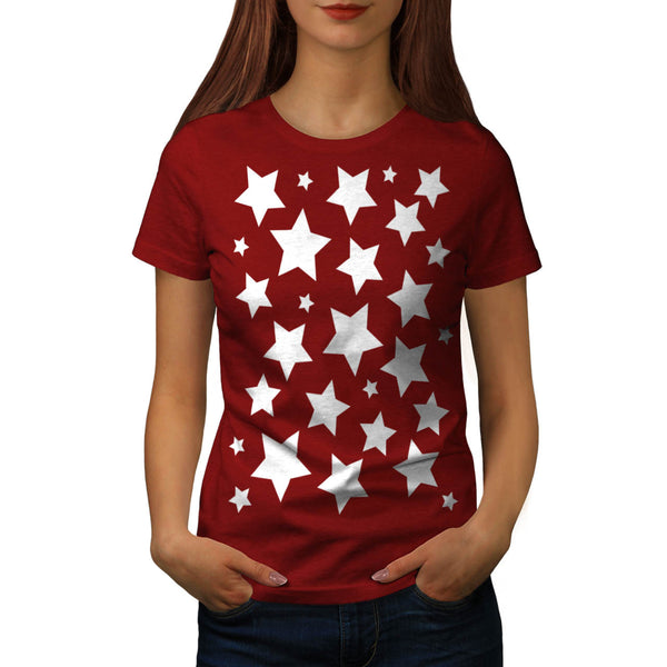 Multiple Star Effect Womens T-Shirt