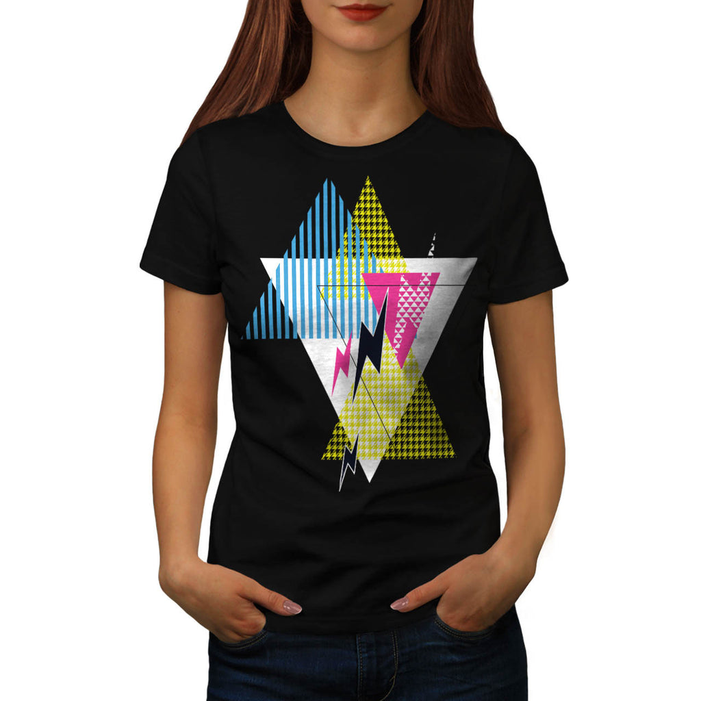 Lightning Bolt Triangle Womens T-Shirt