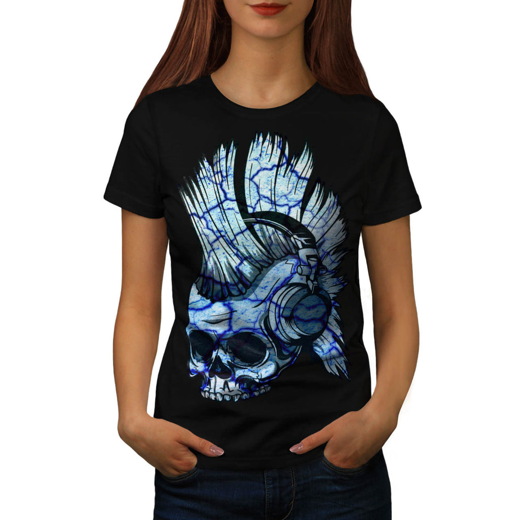 Skull Festival Head Womens T-Shirt