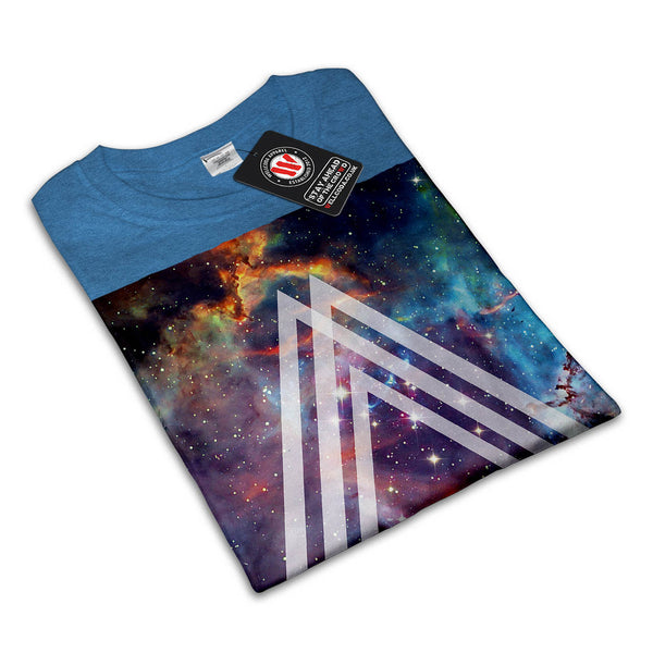 Multi Triangle Space Womens T-Shirt