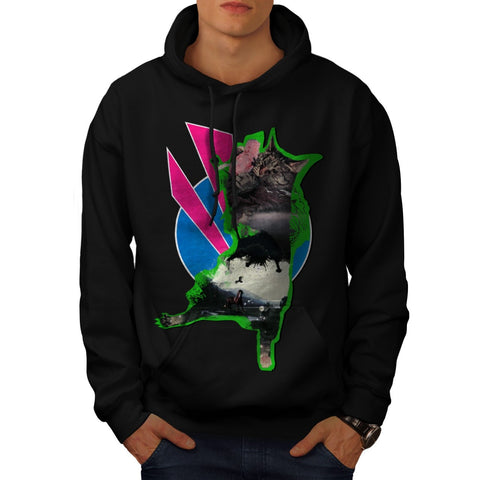 Animal Cat Playful Mens Hoodie