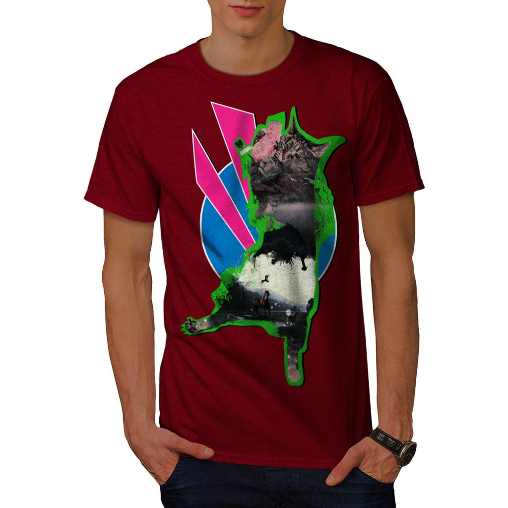 Animal Cat Playful Mens T-Shirt