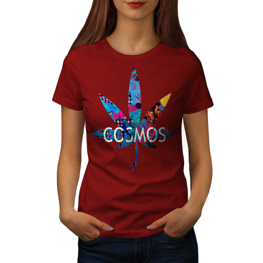 Cannabis Weed Cosmos Womens T-Shirt