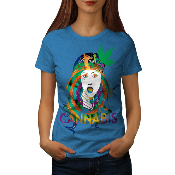 Cannabis Weed Print Womens T-Shirt