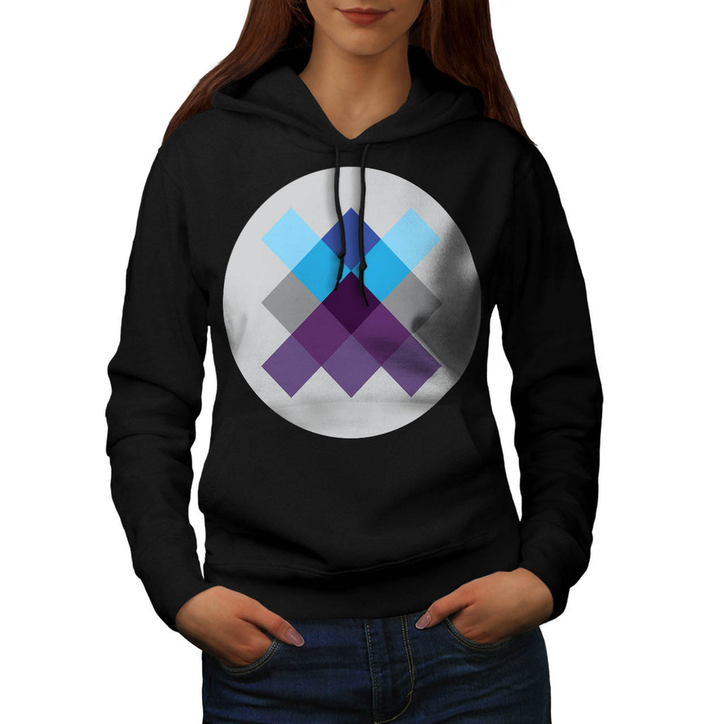Multi Square Circle Womens Hoodie