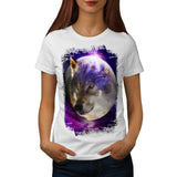 Wild Wolf Moon Earth Womens T-Shirt