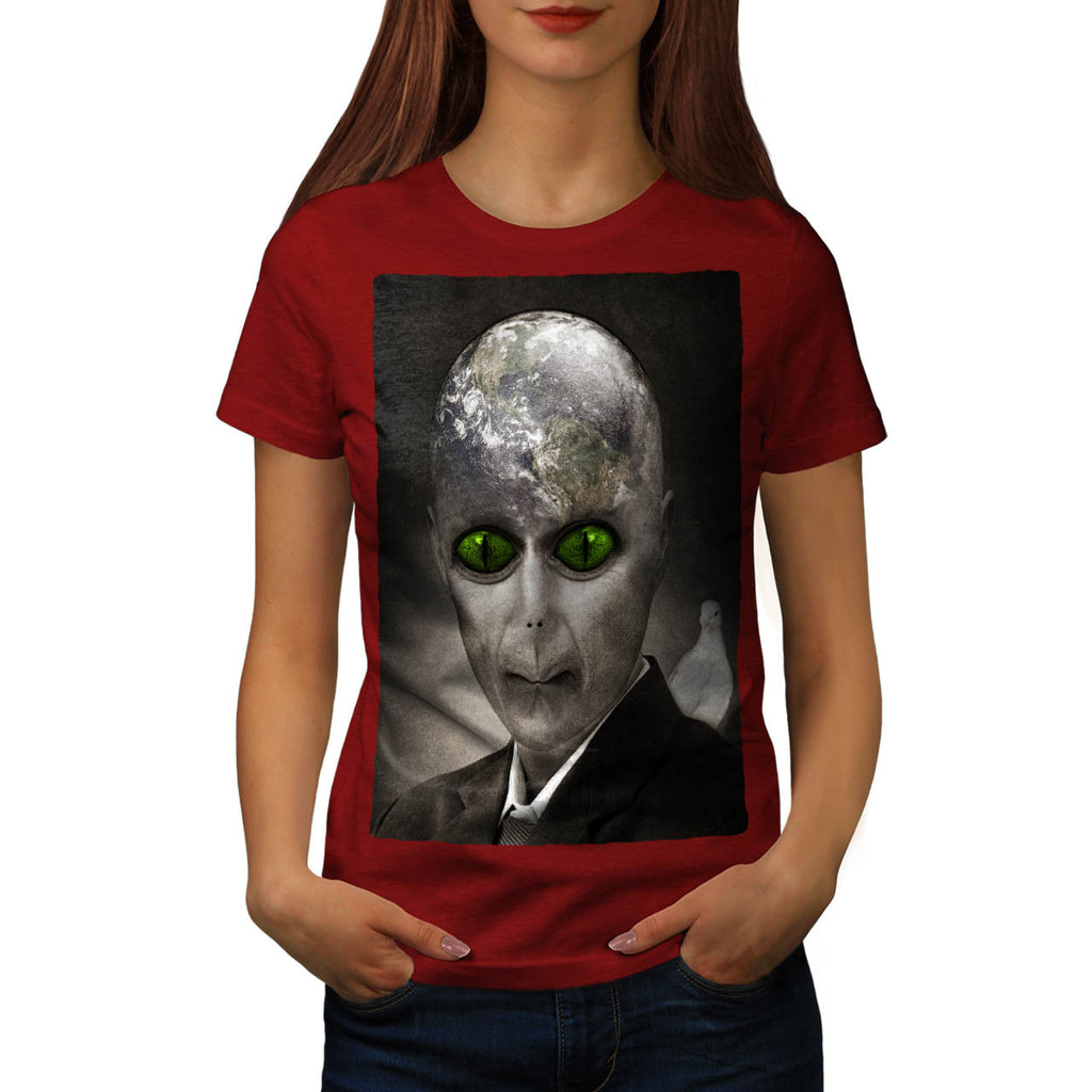 Creepy Alien Planet Womens T-Shirt