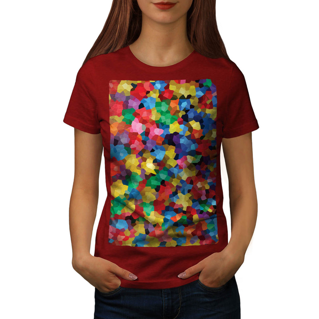 Crazy Colour Ball Pool Womens T-Shirt
