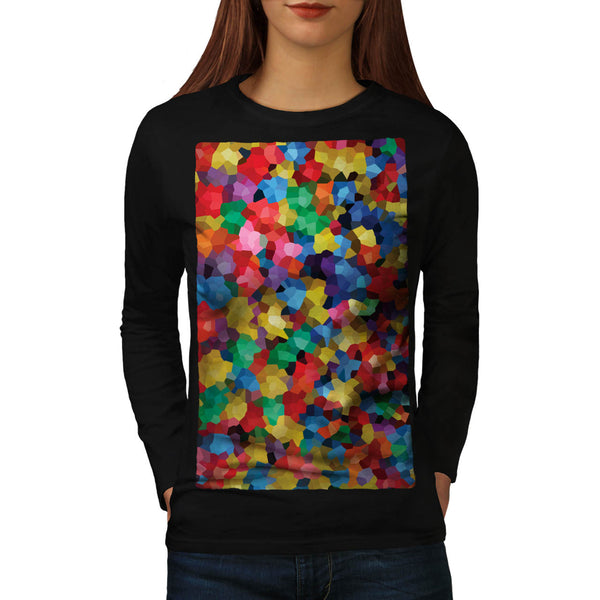 Crazy Colour Ball Pool Womens Long Sleeve T-Shirt