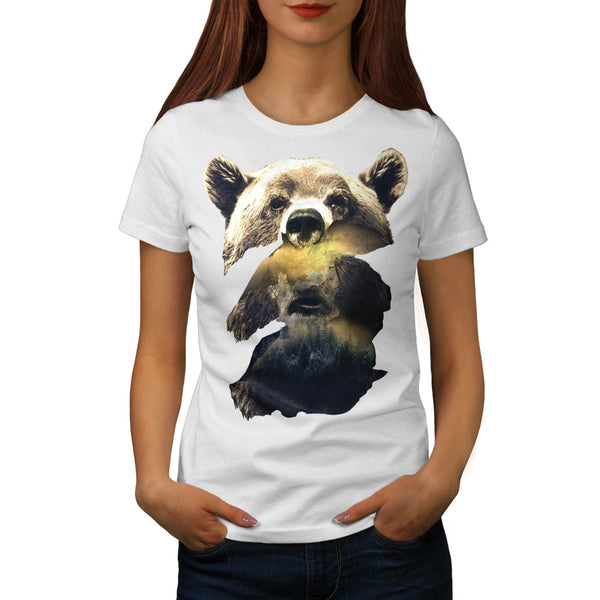 Grizzly Bear Camping Womens T-Shirt