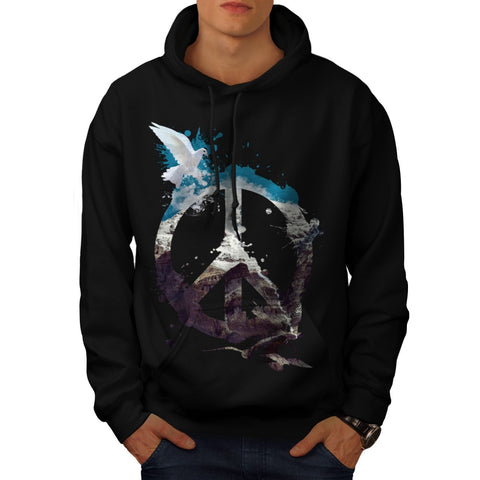 Animal Peace and Love Mens Hoodie