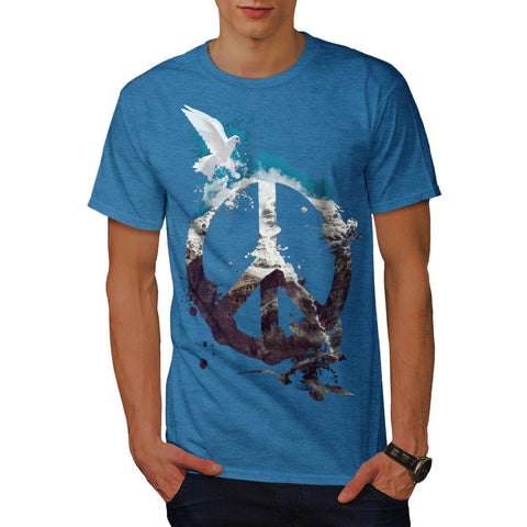 Animal Peace and Love Mens T-Shirt