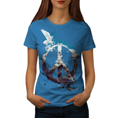 Animal Peace and Love Womens T-Shirt