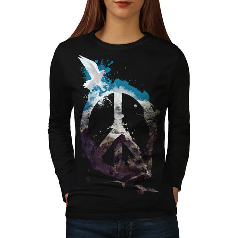 Animal Peace and Love Womens Long Sleeve T-Shirt