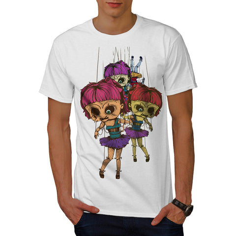 Creepy Freaky Doll Mens T-Shirt