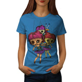 Creepy Freaky Doll Womens T-Shirt