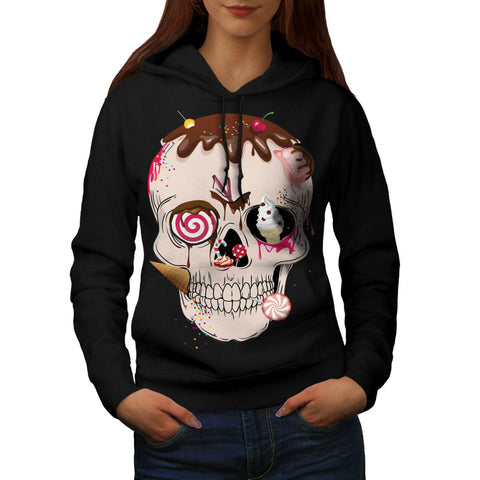 Skull Sugar Head Art Womens Hoodie