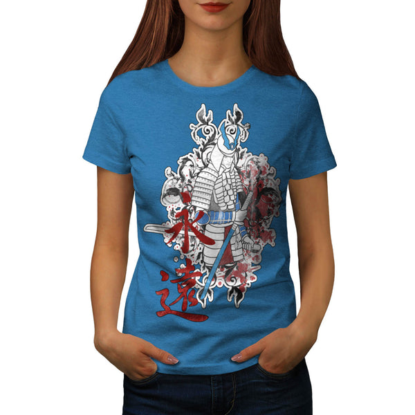 Japan Samurai Warrior Womens T-Shirt