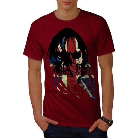Union Jack UK Skull Mens T-Shirt