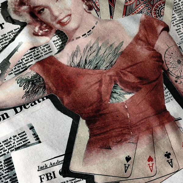 Marilyn Monroe Card Womens T-Shirt