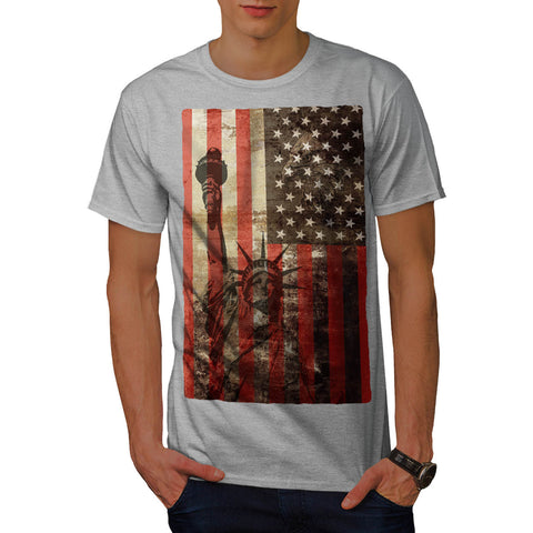 Statue Liberty USA Mens T-Shirt