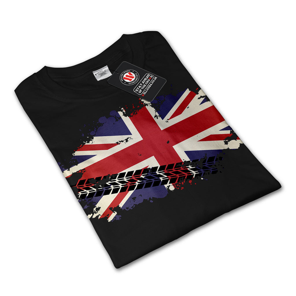 Union Jack UK Flag Mens Long Sleeve T-Shirt