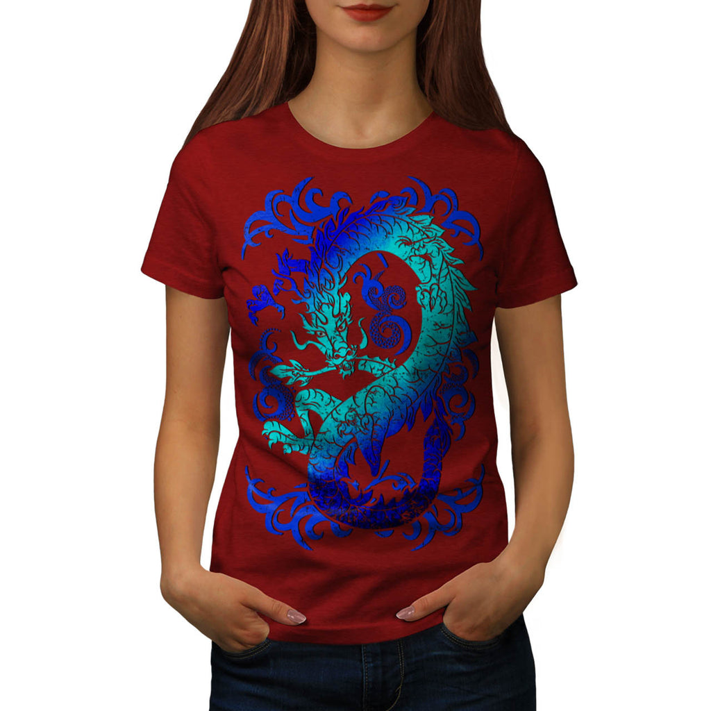 Fantasy Dragon Throne Womens T-Shirt