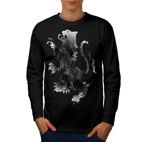 Rampant Lion Scotland Mens Long Sleeve T-Shirt