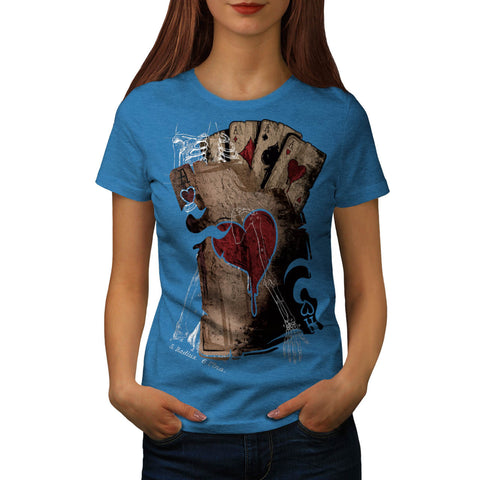 Gambler Death Card Womens T-Shirt