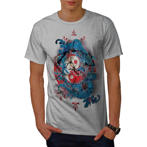 Yin Yang Dragon Life Mens T-Shirt