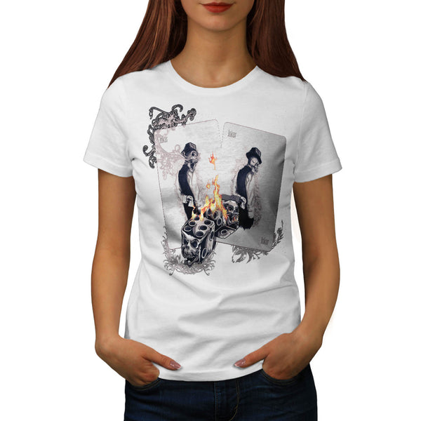Casino Play Fire Dice Womens T-Shirt