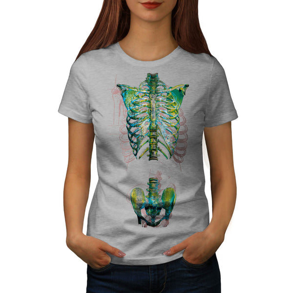Skull Body Bones Art Womens T-Shirt