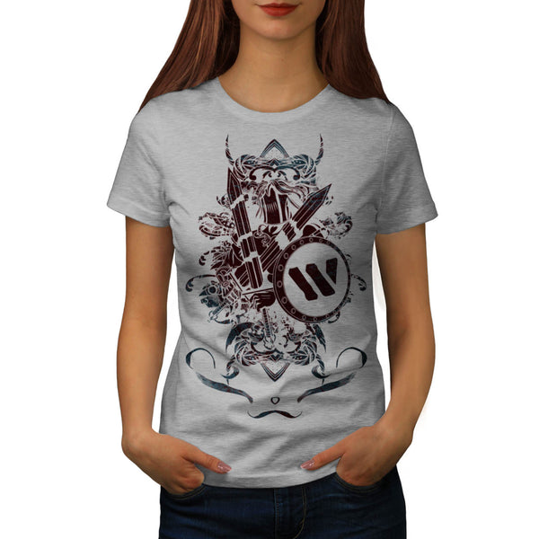 Skull Warrior Devil Womens T-Shirt
