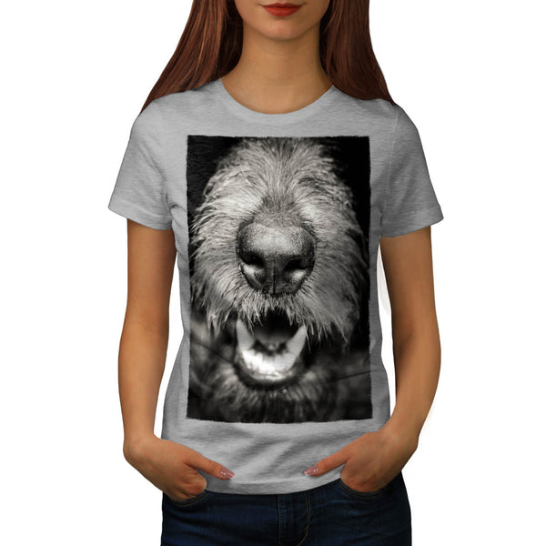 Dog Close Up Face Womens T-Shirt