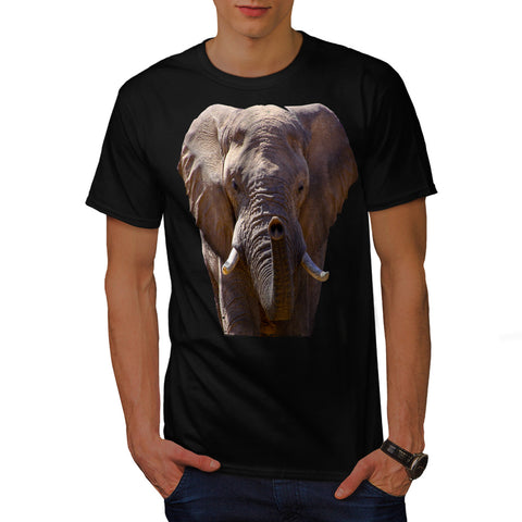 Wild Elephant Head Mens T-Shirt