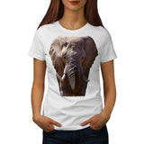 Wild Elephant Head Womens T-Shirt