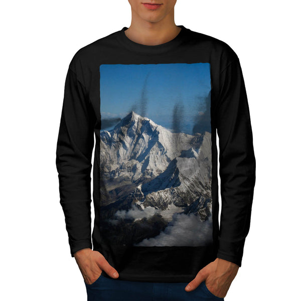 Rocky Mountain Range Mens Long Sleeve T-Shirt