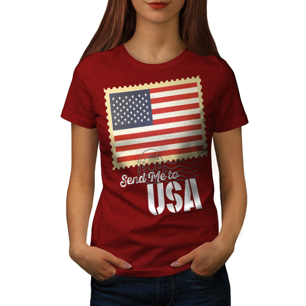 USA America Flag Womens T-Shirt