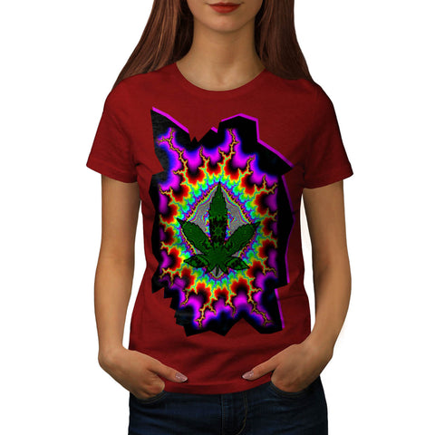 Crazy Smoke Weed Fun Womens T-Shirt